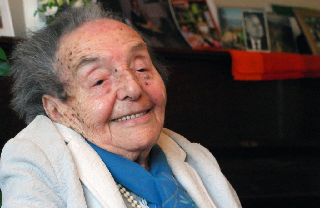 Alice Herz-Sommer, now 110 and pictured here on her 107th birthday, is the subject of an Oscar-nominated documentary. (Polly Hancock)