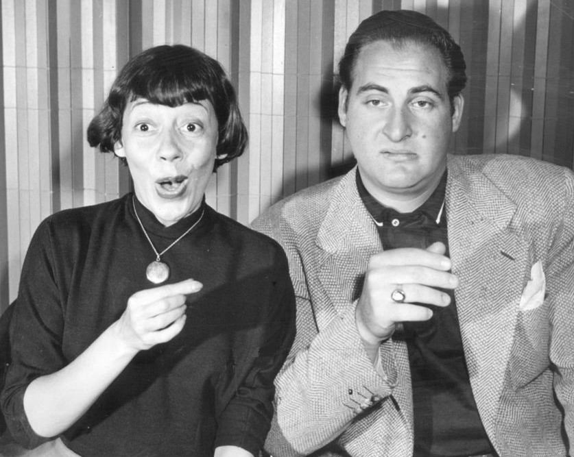 "Sid Caesar on ""Show of Shows"" with co-star Imogene Coca (Wikimedia Commons)"