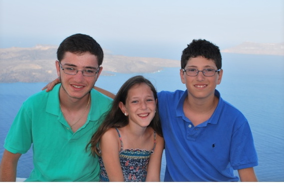 Zakary Kadish, left, with his sister and brother, before his brother was injured.