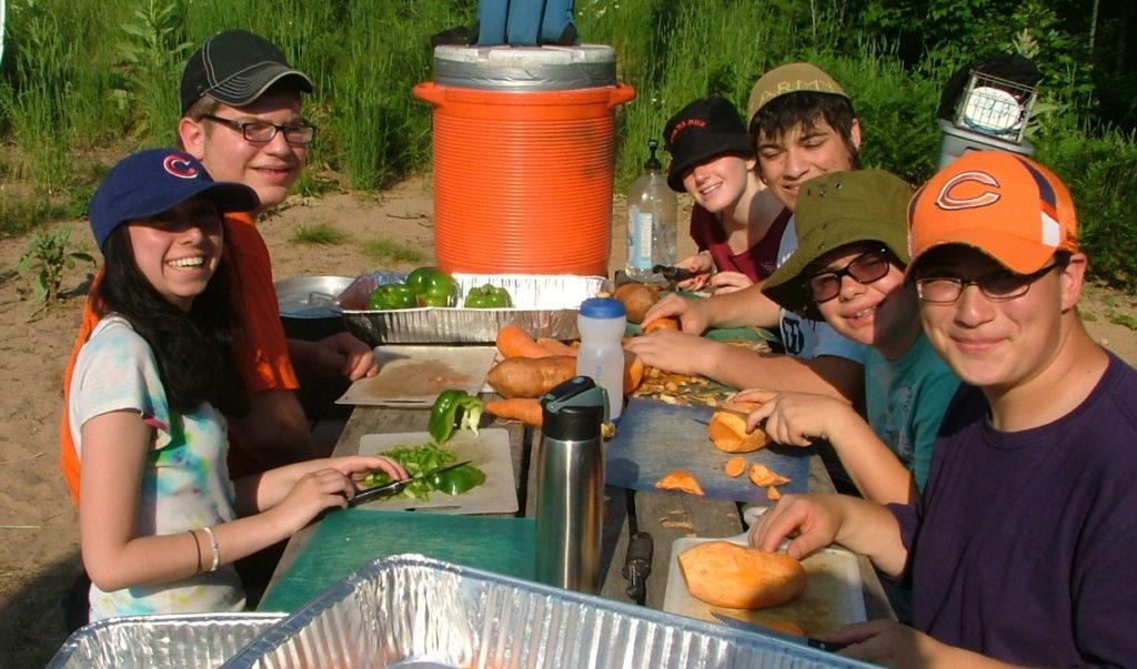 Campers in Ramah's Tikvah program. (Courtesy National Ramah Commission)