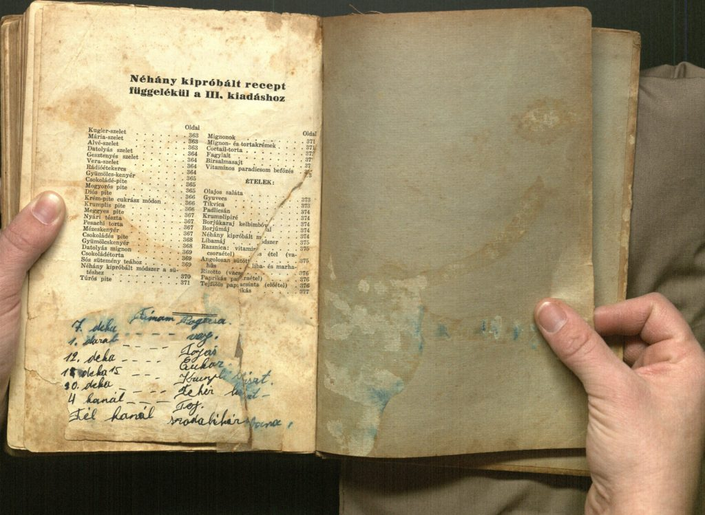 A Hungarian-Jewish cookbook, with a recipe written at the back, intrigues Tara Lotstein. (Courtesy of Tara Lotstein)