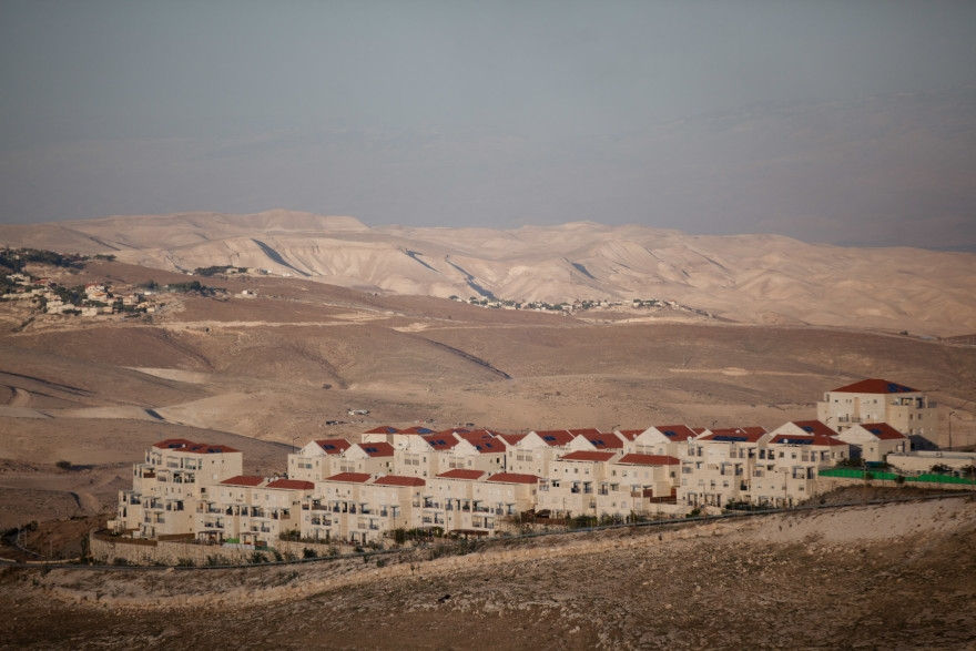 A view of a portion of the West Bank settlement of Maale Adumim, the settlement adjoining the industrial zone where SodaStream has a factory. (Uriel Sinai/Getty Images)