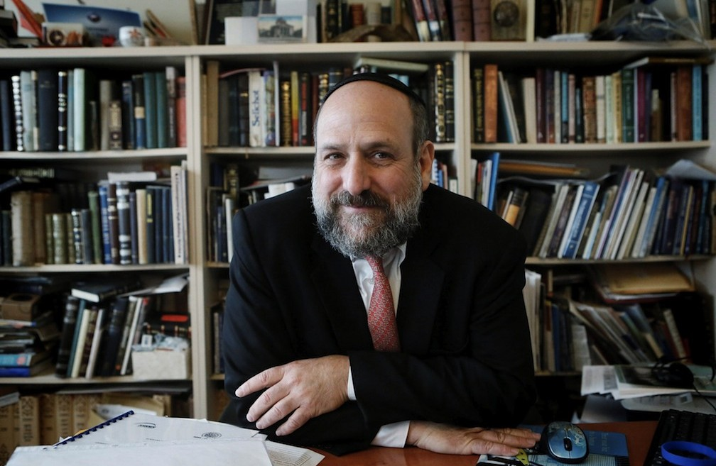 Rabbi Michael Schudrich, chief rabbi of Poland (Miriam Alster/Flash 90)