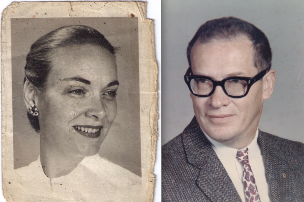 Zipora Saar's cousin Philip Walrod, shown while serving as a California school's headmaster, and his second wife Dory, a physician. (Courtesy of Duane Walrod)