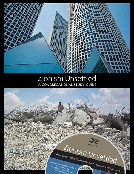 "The Israel/Palestine Mission Network of the Presbyterian Church (U.S.A.) released a study guide titled ""Zionism Unsettled"" with a companion DVD."