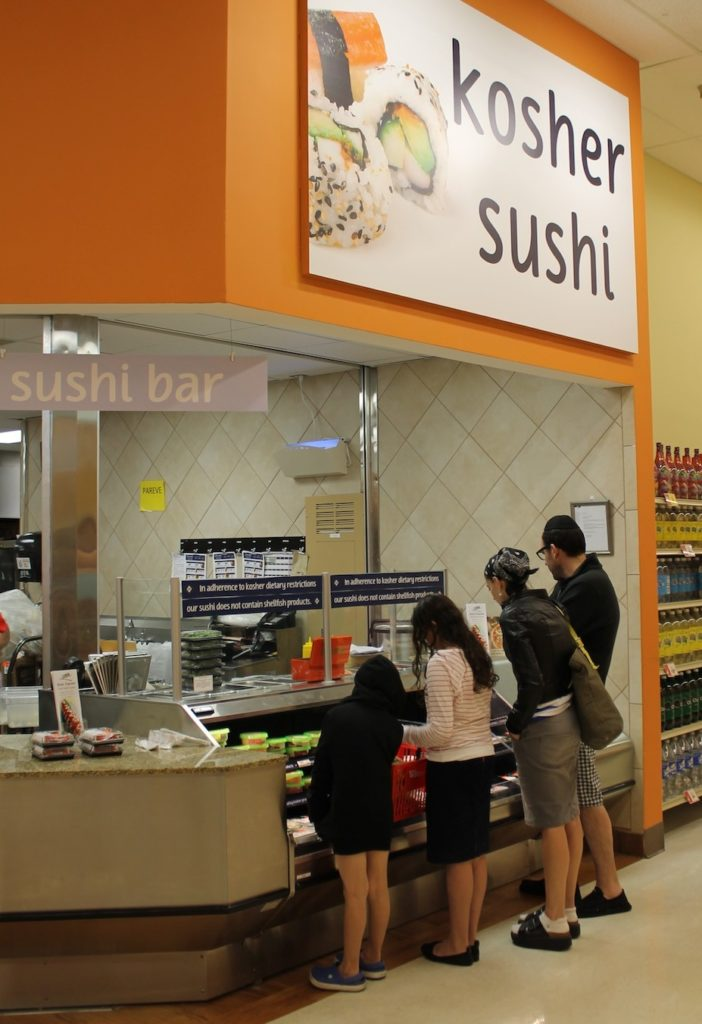 The sushi bar at the Winn-Dixie store in Boca Raton only carries kosher products. (Uriel Heilman)