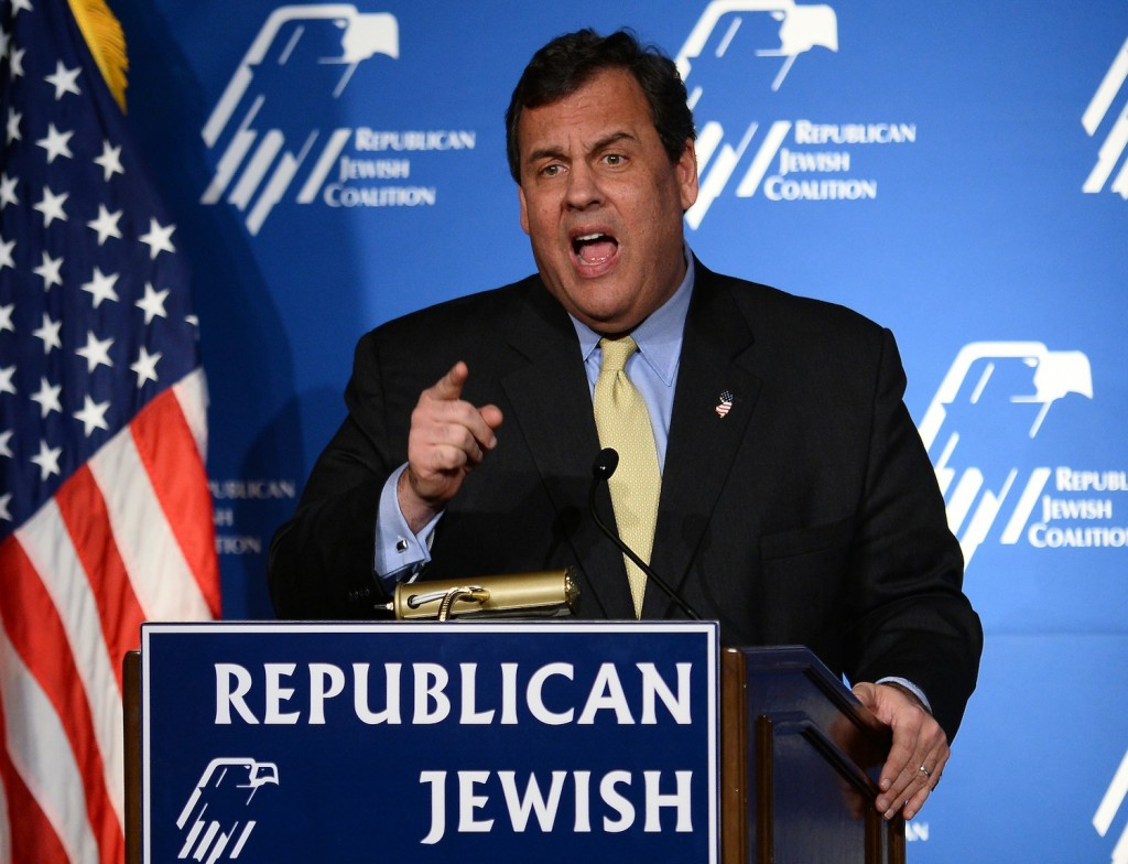 New Jersey Gov. Chris Christie speaks to the Republican Jewish Coalition  in Las Vegas on March 29, 2014. (Ethan Miller/Getty Images)