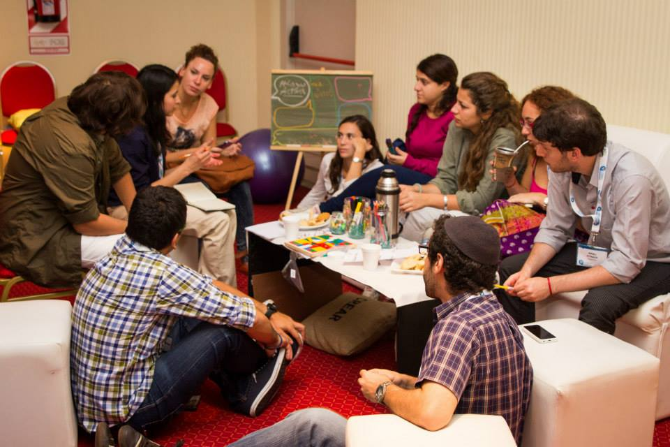 Lazos gathering participants came together in Argentina near the famed Iguazu Falls to discuss the problem of shrinking Jewish communities in Latin America. (Courtesy of Lazos)