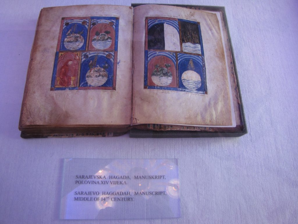 The Sarajevo Haggadah took a 600-year journey from Spain through Italy to Bosnia. (Courtesy of Aleksandra Buncic)