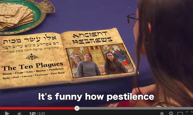 "Students at Atlanta's Weber School produced one of the ""Frozen"" parody videos for Passover."