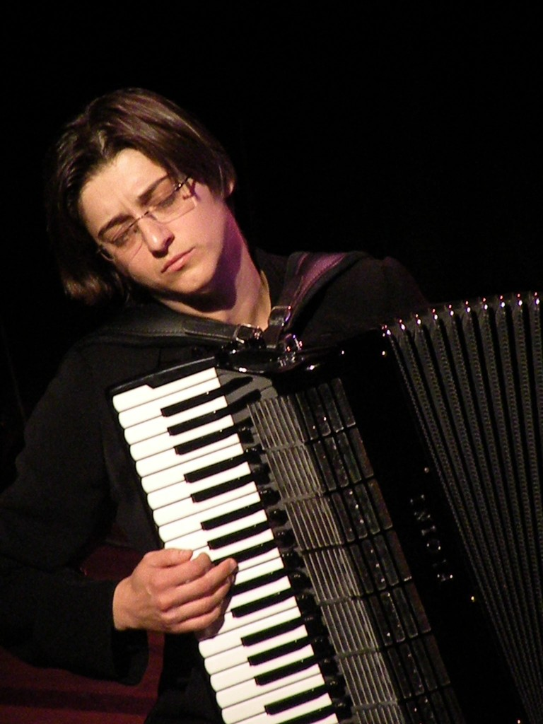 Merima Kljuco, an internationally acclaimed concert accordionist, composed a piece of music about the Sarajevo Haggadah.  (Jose de Vries)