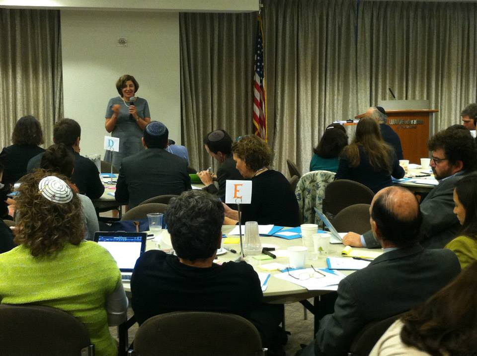 Shifra Bronznick speaks at an Advancing Women Professionals conference in October 2013. (Courtesy Advancing Women Professionals)