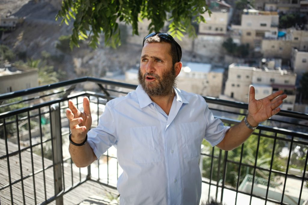 Rabbi Shmuley Boteach tours the City of David in Jerusalem in 2013. (Flash 90)