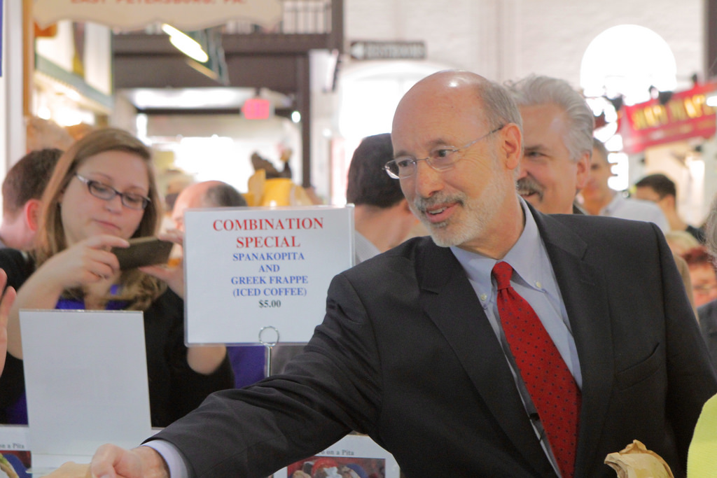 Pennsylvania's Tom Wolf is a JCC macher, but is not Jewish. (Flicker/WolfForPa Campaign)