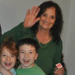 Judith Mertz today with two of her 15 grandchildren. (Courtesy Judith Mertz)