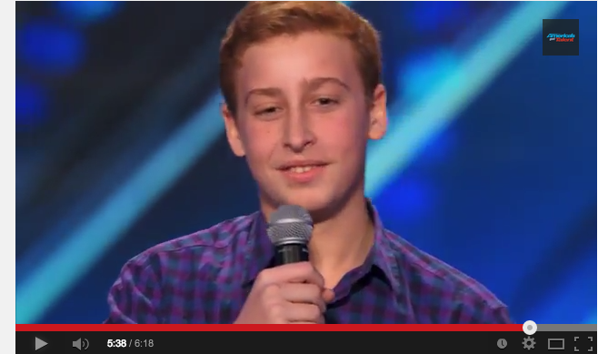 "Josh Orlian, 12, of White Plains, N.Y., debuted on ""America's Got Talent"" June 17, 2014. (YouTube)"