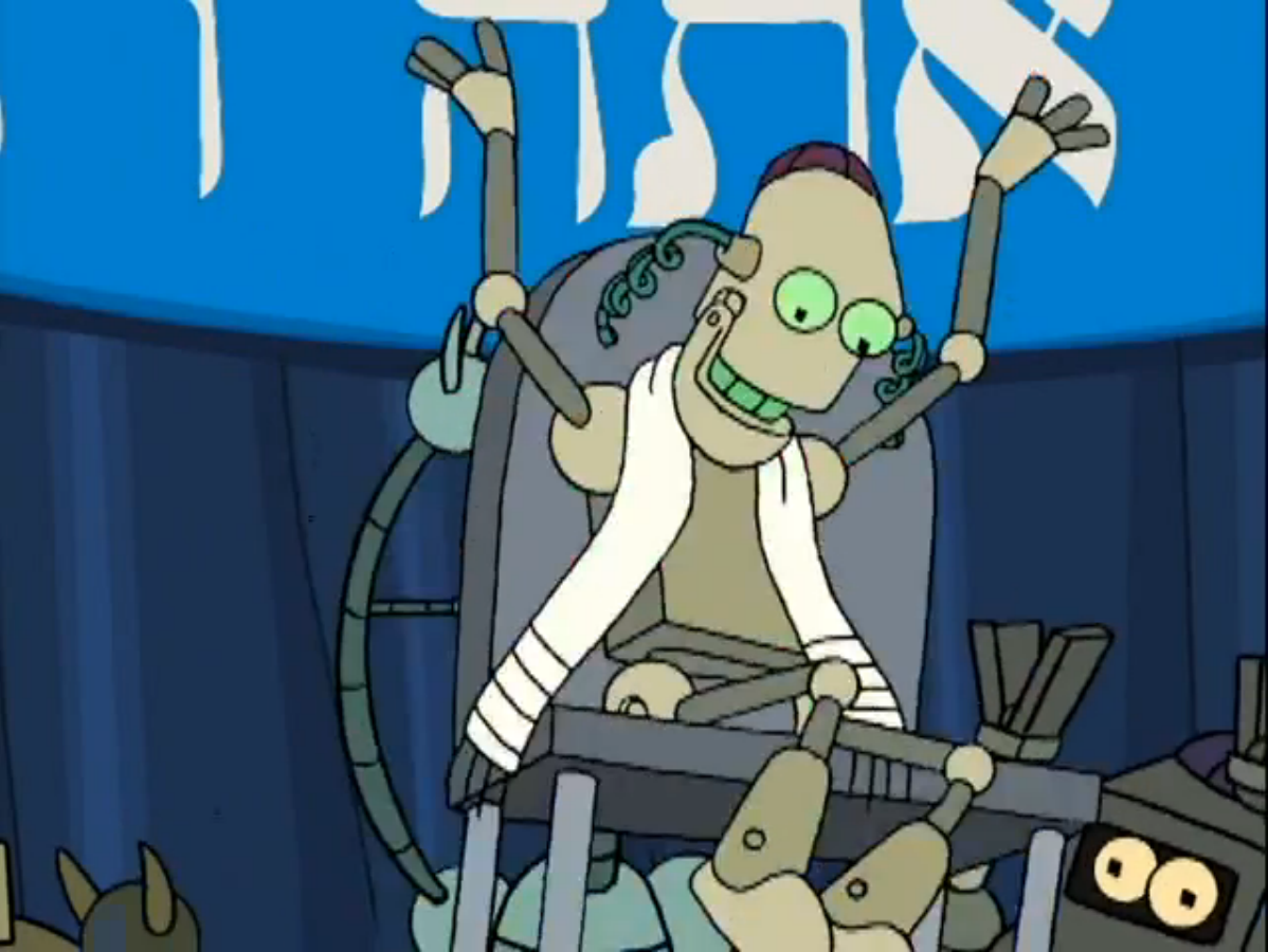 A 'Bot-Mitzvah' depicted on the TV show Futurama (Hulu)