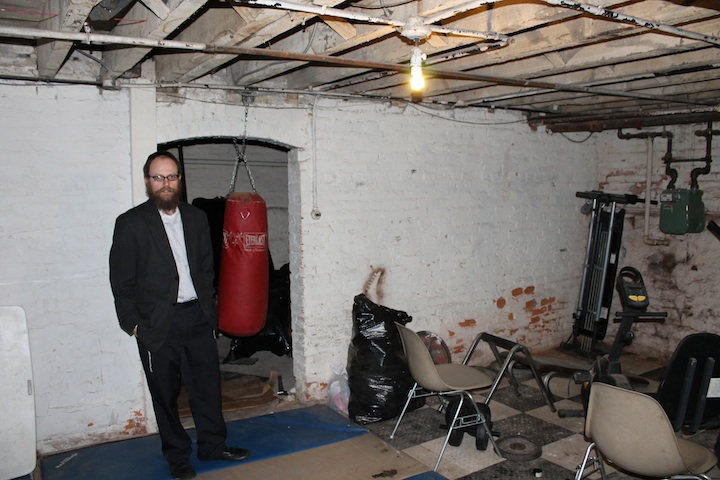 The basement weight room is one of the features that make Bais Menachem an atypical Chabad yeshiva. (Uriel Heilman/JTA)