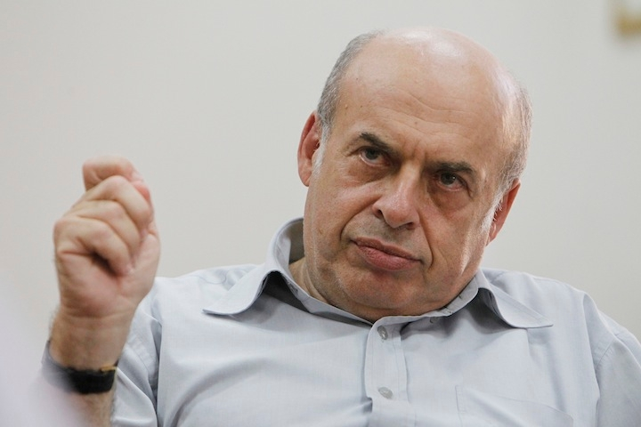The chairman of the Jewish Agency for Israel, Natan Sharansky, seen during an interview with the press at his office in Jerusalem on September 12, 2013. (Miriam Alster/Flash90).