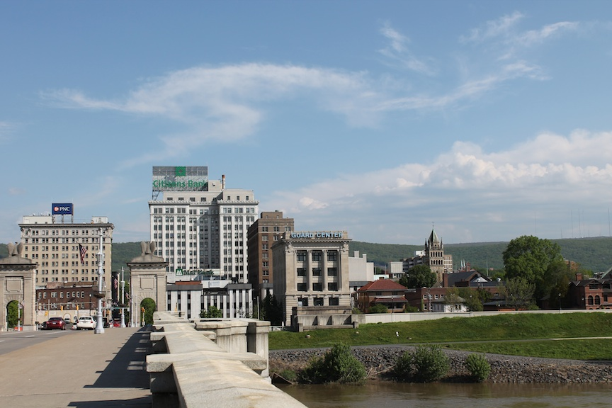 The population of Wilkes-Barre, Pa., located about 120 miles west of New York, is less than half what it was in 1930. (Uriel Heilman/JTA)
