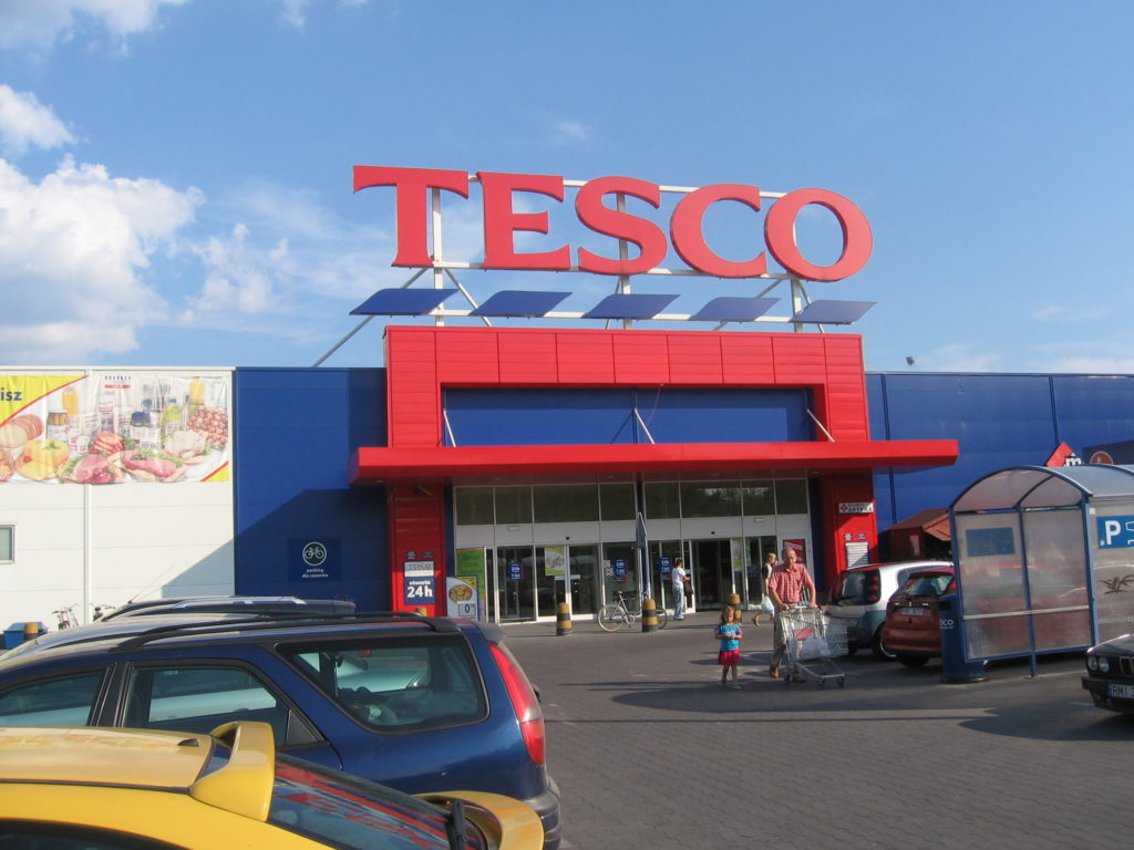 The United Kingdom-based Tesco supermarket chain has announced it will stop carrying products from the West Bank. (Wikimedia Commons)