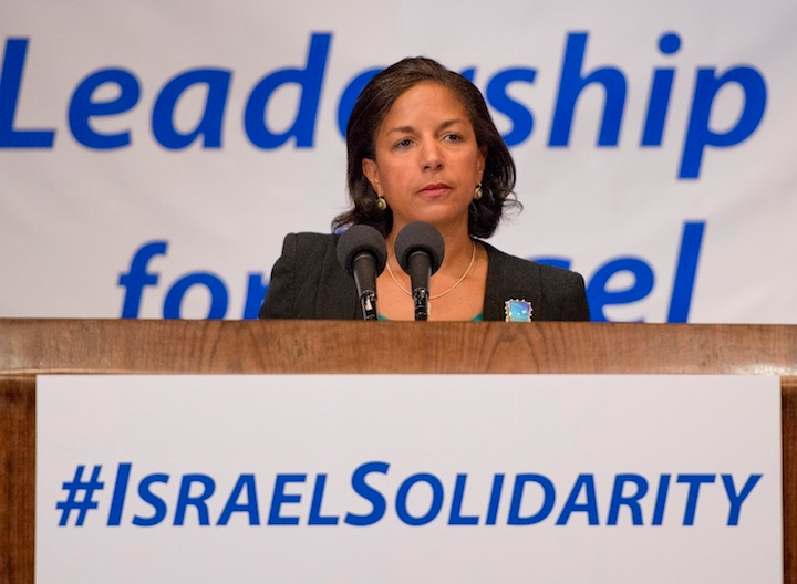 National Security Advisor Susan Rice addresses Jewish leaders a the National Press Club in Washington, July 28, 2014. (Ron Sachs)