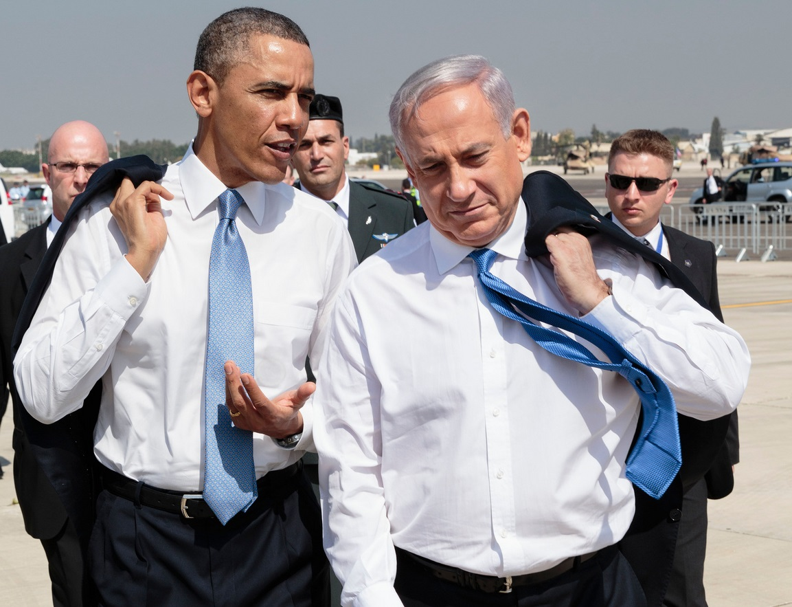 The relationship between President Obama and Israeli Prime Minister Benjamin Netanyahu, seen here after Obama's arrival in Israel on March 20, 2013, has been marked by reports of tensions. (Pete Souza / White House)