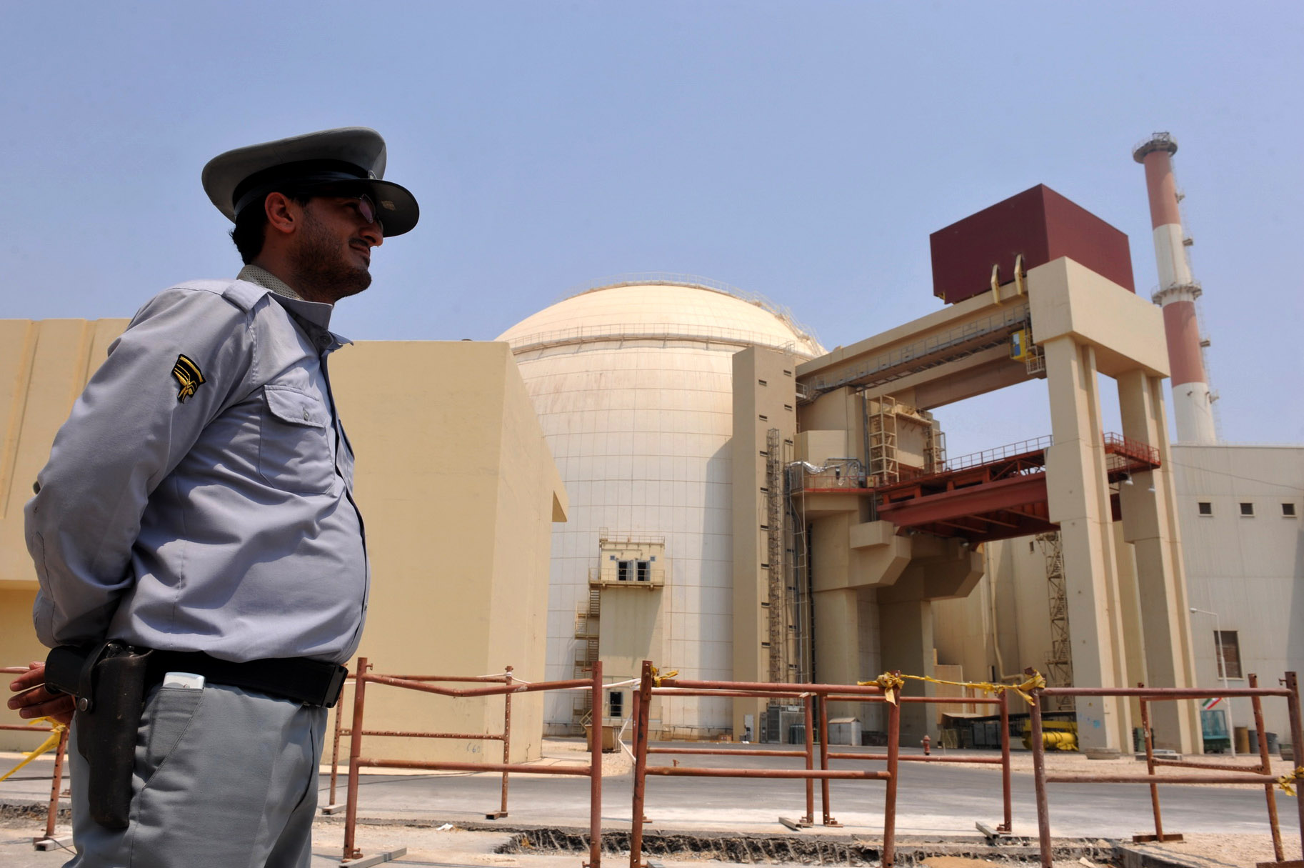 This handout image supplied by the IIPA (Iran International Photo Agency) shows a view of the reactor building at the Russian-built Bushehr nuclear power plant as the first fuel is loaded, Aug. 21, 2010 in Bushehr, southern Iran. (Photo by IIPA via Getty Images)