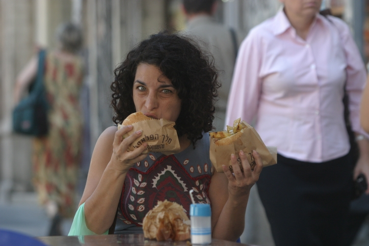 Popular foods like falafel have gained Israel an international reputation as a vegan-friendly country. (Orel Cohen/Flash90 )