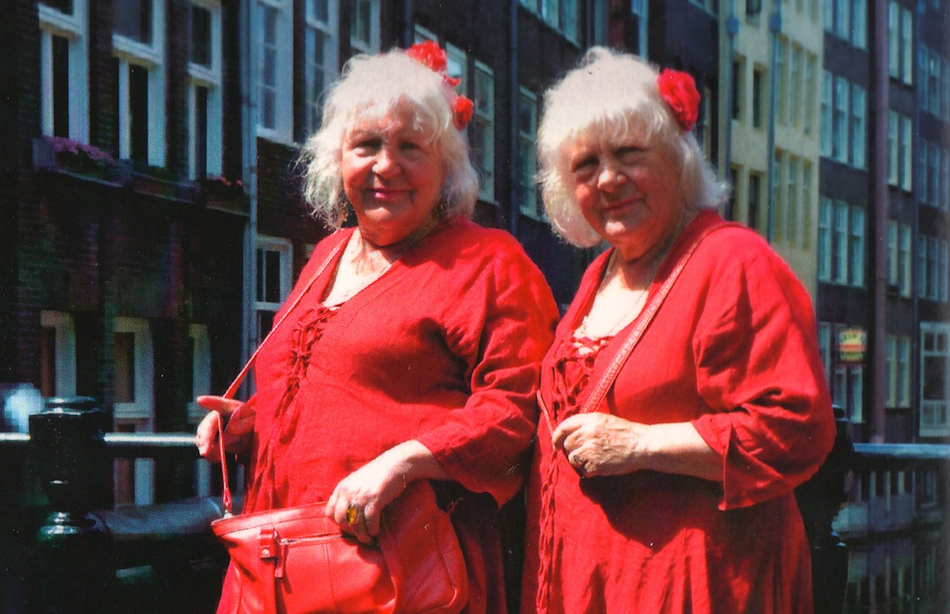 Martine, left, and Louise Fokkens in Amsterdam in 2010. (Aspekt Publishers)
