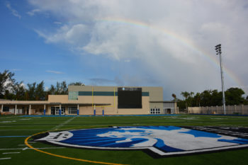 The new stadium at the Scheck Hillel Community Day School is part of a planned $22 million expansion at the South Florida school. (Courtesy Scheck Hillel Community Day School)