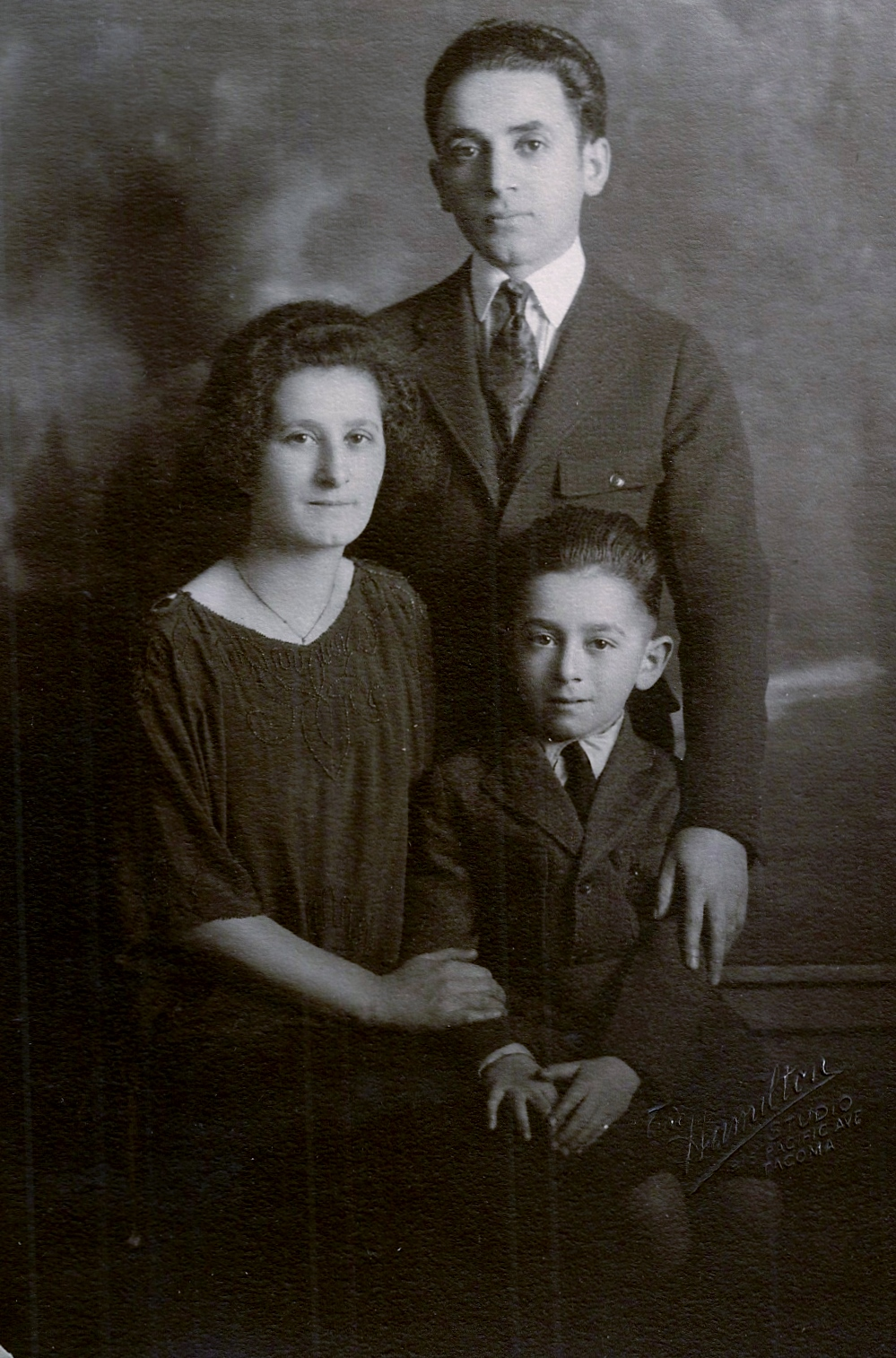 Harry and Yetta Frishman with their son, Daniel, are shown circa 1920, shortly after moving from Paterson, N.J., to Tacoma, Wash. (Courtesy Hillel Kuttler)