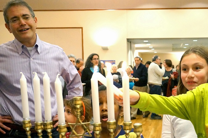 Rabbi Wesley Gardenswartz of Temple Emanuel in Newton, Mass., told his congregation he'd like to change synagogue policy so that interfaith couples are treated the same as all-Jewish couples. (Courtesy Temple Emanuel)