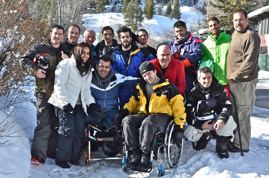 In 2014, Golshim L'Chaim-Ski to Live brought about a dozen wounded Israeli veterans and terrorism victims to Aspen to learn how to ski. This year's program will take place in February. (Nina Zale)