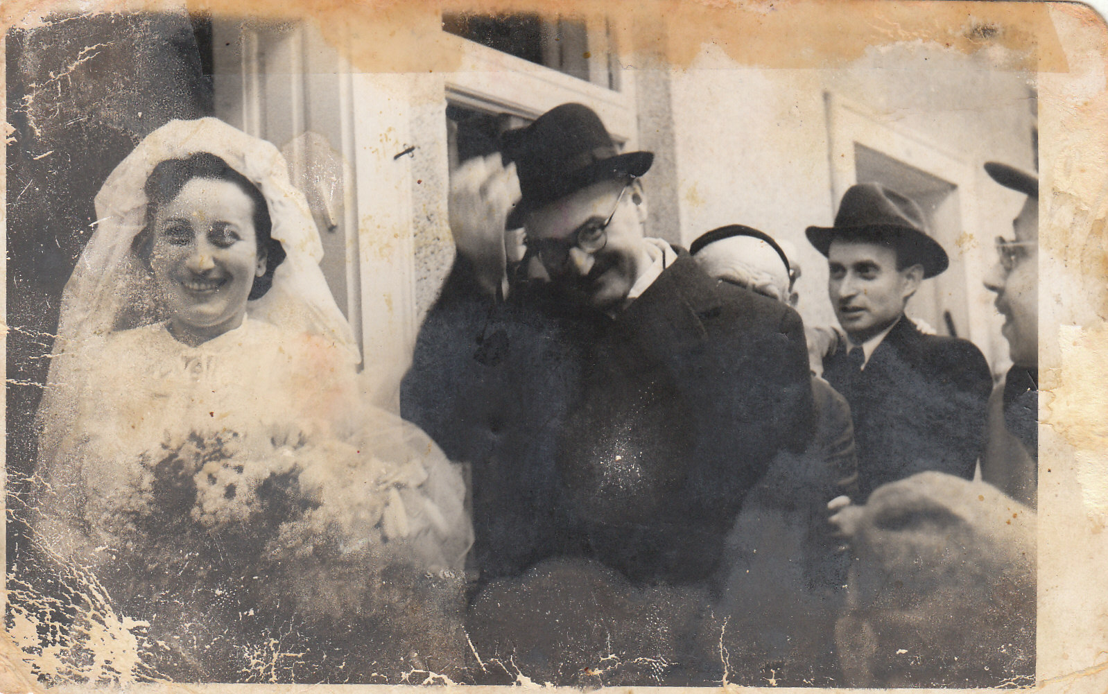Miriam Grab's parents, Eugen and Jolan Friedmann, on their wedding day in 1940, in Tapozcany, Czechoslovakia.  (Courtesy of Miriam Grab)