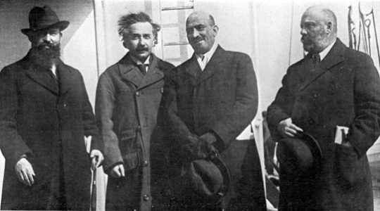 Einstein and Weizmann Take America