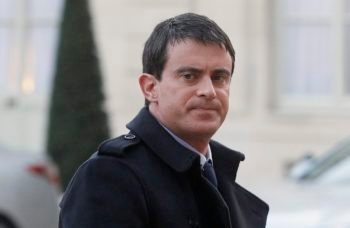 French Prime Minister Manuel Valls arriving at the Elysee Palace in Paris for a meeting with French Jewish leaders, Jan. 11, 2015. (Thierry Chesnot/Getty Images)