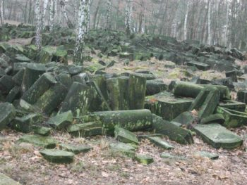 Warsaw's Brodno  cemetery was destroyed during the German occupation of Poland. (Courtesy of Jewish Community of Warsaw)