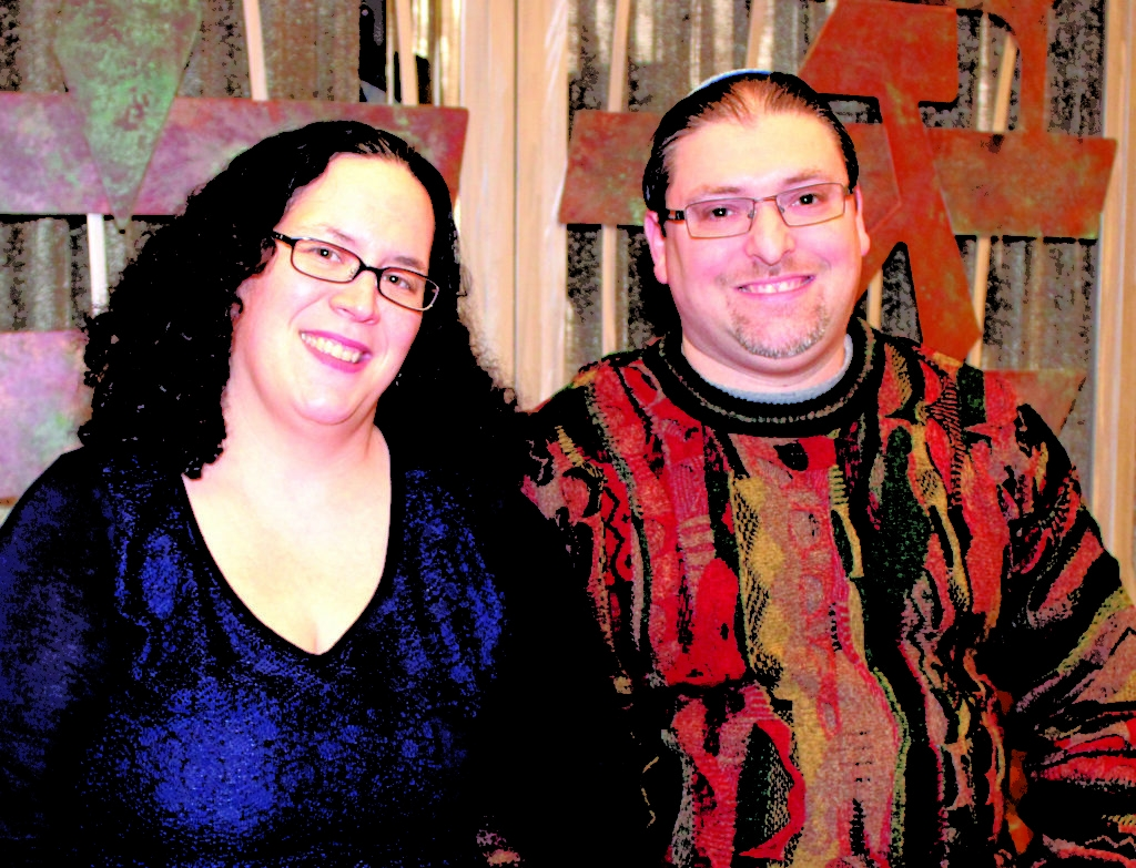 Cantor Jenna Greenberg and Rabbi Josh Ginsberg (Marshall Weiss/Dayton Jewish Observer)