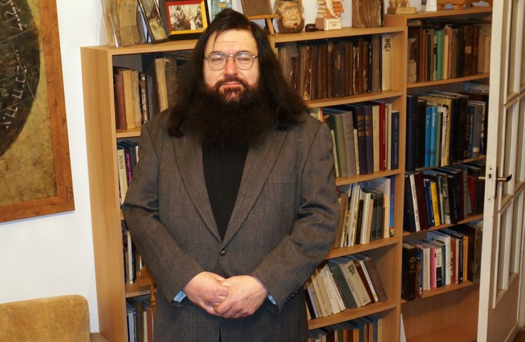 Dovid Katz has become a target of scorn for speaking out against ultra-nationalist groups in Lithuania. (Cnaan Liphshiz)