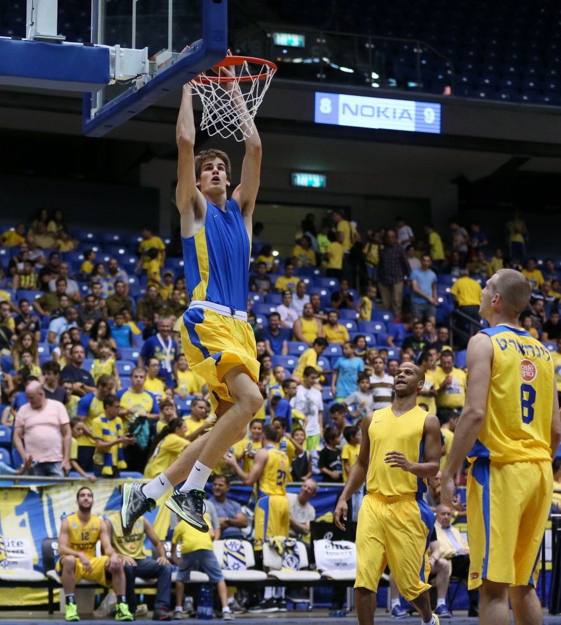 Dragan Bender dreams of dunking one day in the NBA. (Courtesy of Maccabi Tel Aviv BC)
