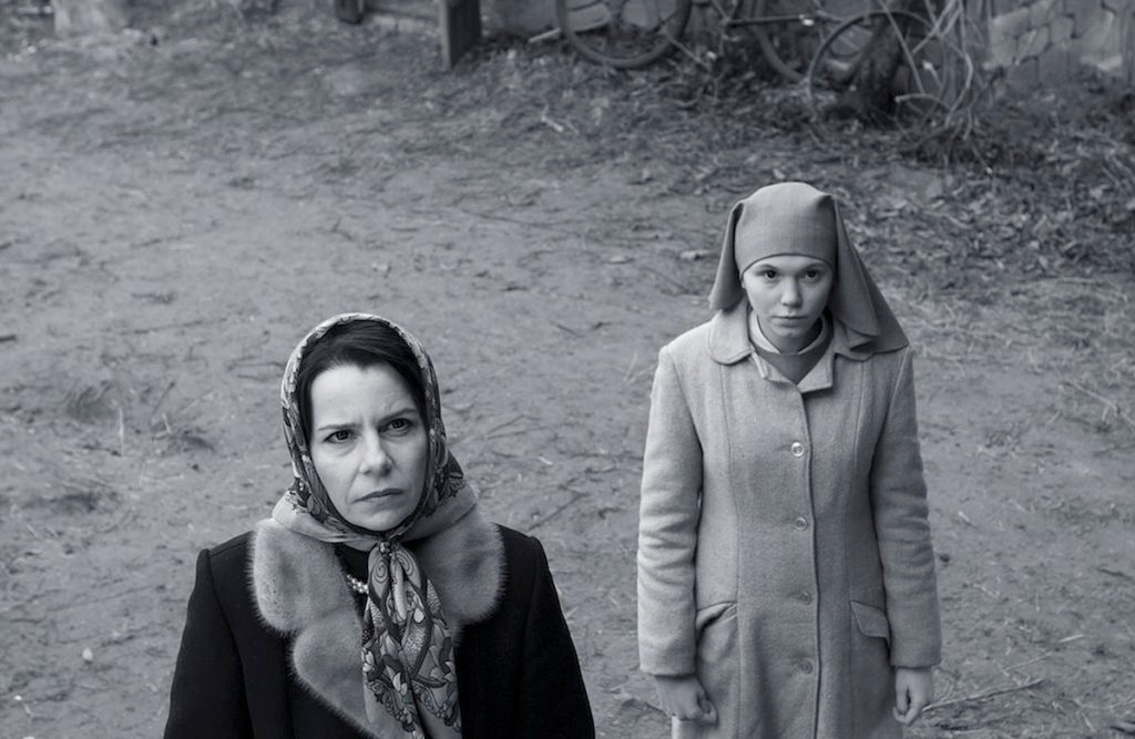 "Agata Kulesza, left, and Agata Trzebuchowska co-star in the Polish film ""Ida,? an Oscar nominee for Best Foreign Language Film about an aunt and niece looking for family lost in the Holocaust. (Opus Film)"