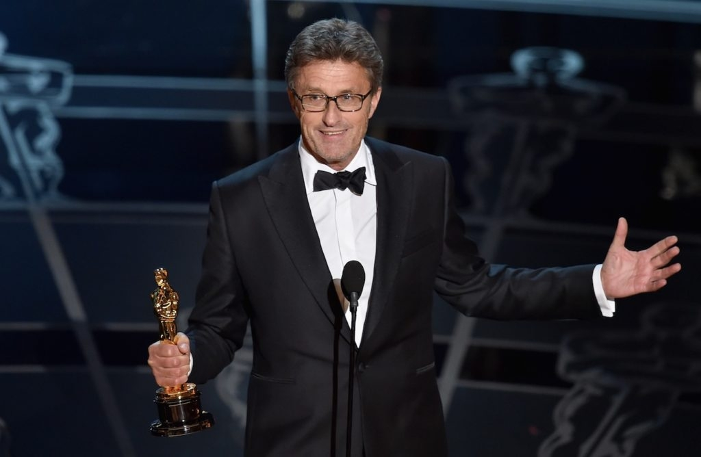 Filmmaker Pawel Pawlikowski accepting the Best Foreign Language Film Award for 'Ida' during the 87th Annual Academy Awards in Los Angeles, Feb. 22, 2015. (Kevin Winter/Getty Images)