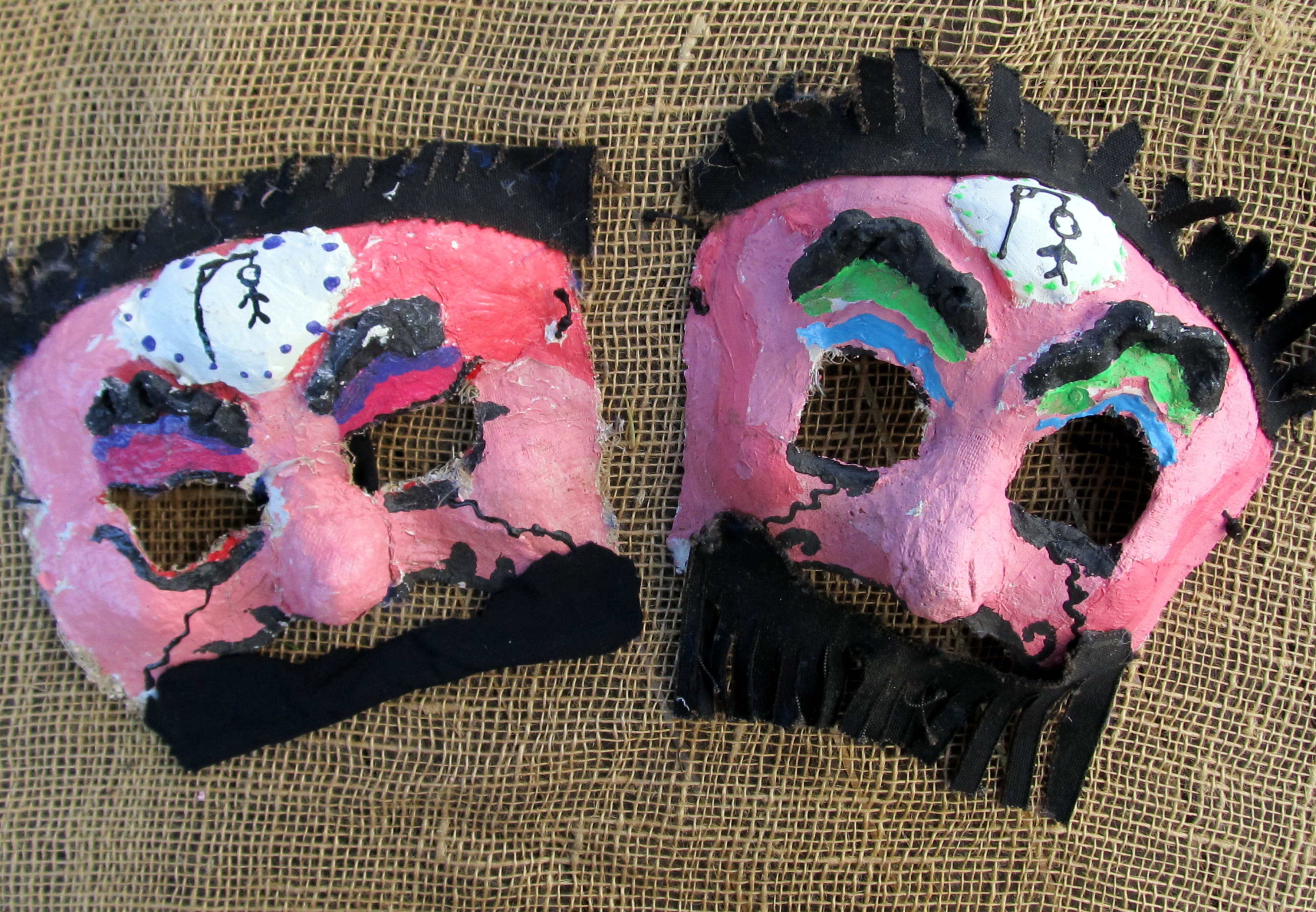 Two faces of Haman: Why do we like trying them on? (Masks and photo by Edmon J. Rodman)