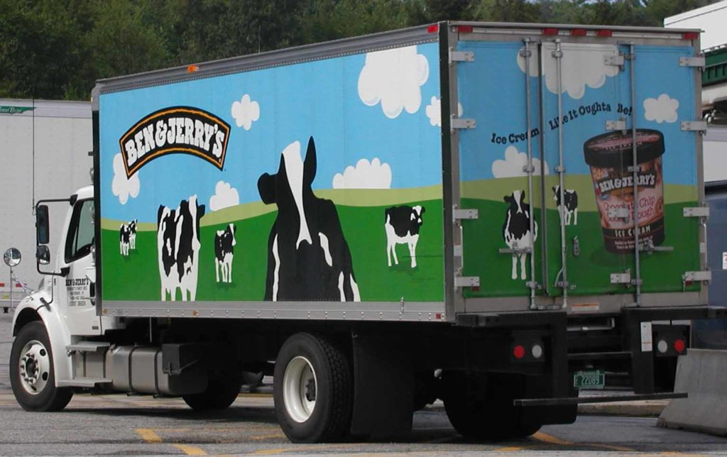 Imagine if this Ben & Jerry's truck were filled with 10 flavors of kosher-for-Passover ice creams. (Wikimedia Commons)