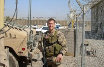 Eric Greitens as a Navy SEAL in Iraq. (Courtesy of Rubenstein Public Relations)