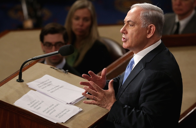 Israeli Prime Minister Benjamin Netanyahu slammed the proposed nuclear deal with Iran in a speech to a joint meeting of Congress on March 3. (Chip Somodevilla/Getty Images)