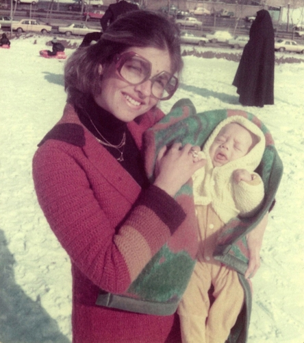 Dan Shadur as an infant in Tehran with his mother, Nili, 1978 (Avi Shadur)