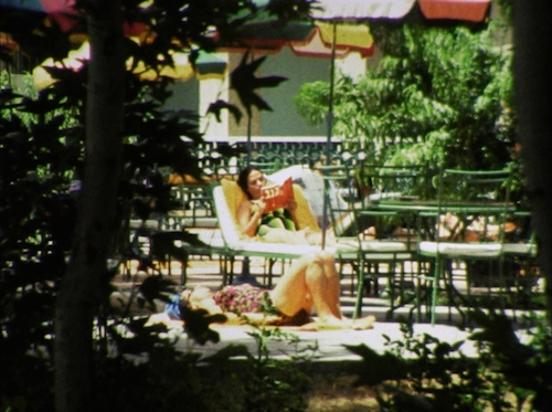 Israelis relaxing in a villa in Tehran. (Courtesy of