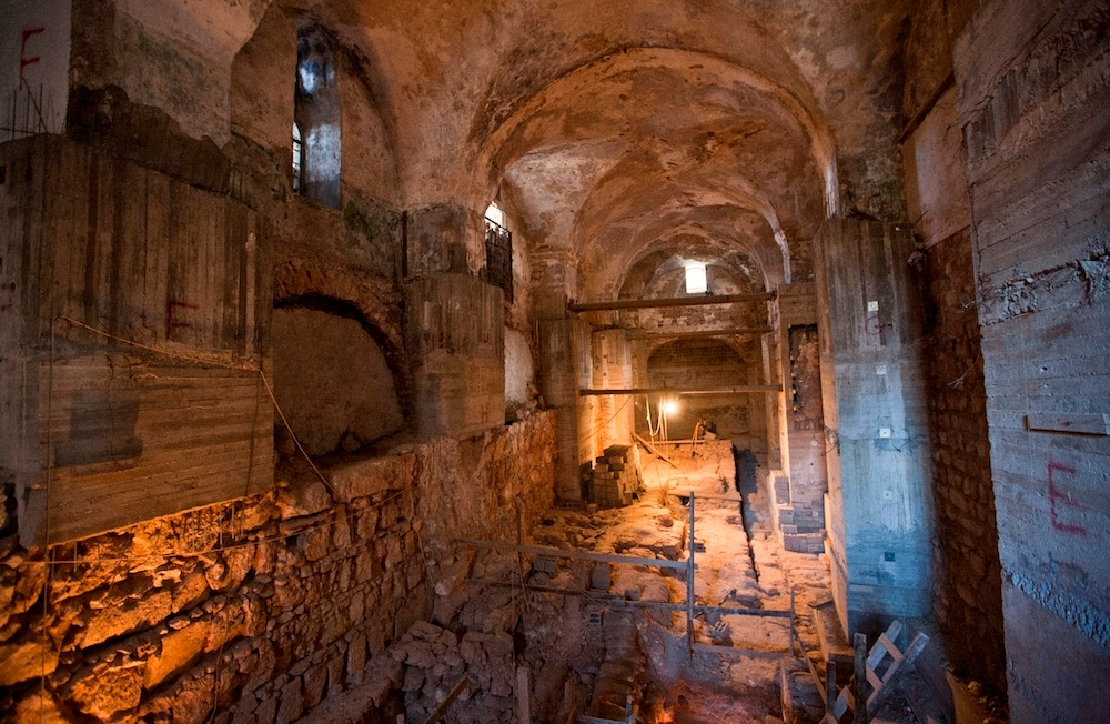 Beneath a former Ottoman prison in Jerusalem's Old City, layers of ancient history were uncovered. (Courtesy photo)